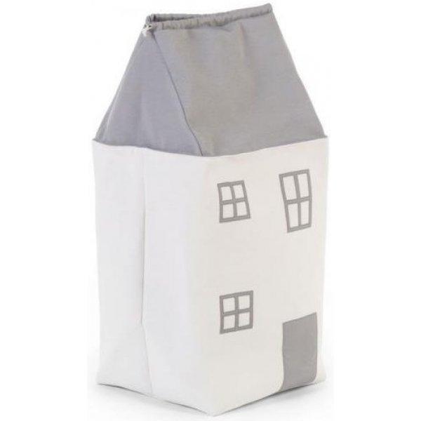 Childhome Box na hračky Dům GREY OFF WHITE