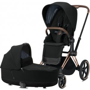 Cybex Priam podvozek, Seat Pack Plus, Lux Carry Cot 2020 Deep black