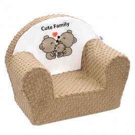 New Baby Dětské křeslo z Minky New Baby Cute Family cappuccino