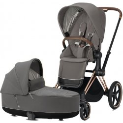 Cybex Priam podvozek, Seat Pack, Lux Carry Cot 2020 Soho Grey