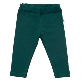 New Baby Kojenecké bavlněné legíny New Baby Leggings tmavě zelené