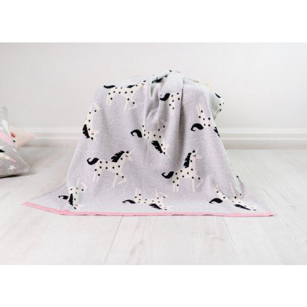 Bizzi Growin Pletená deka Jednorožci