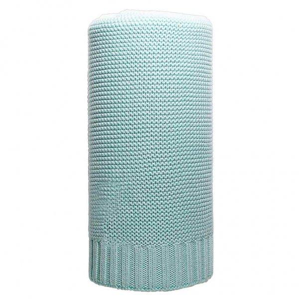 New Baby Bambusová pletená deka NEW BABY 100x80 cm mátová Zelená