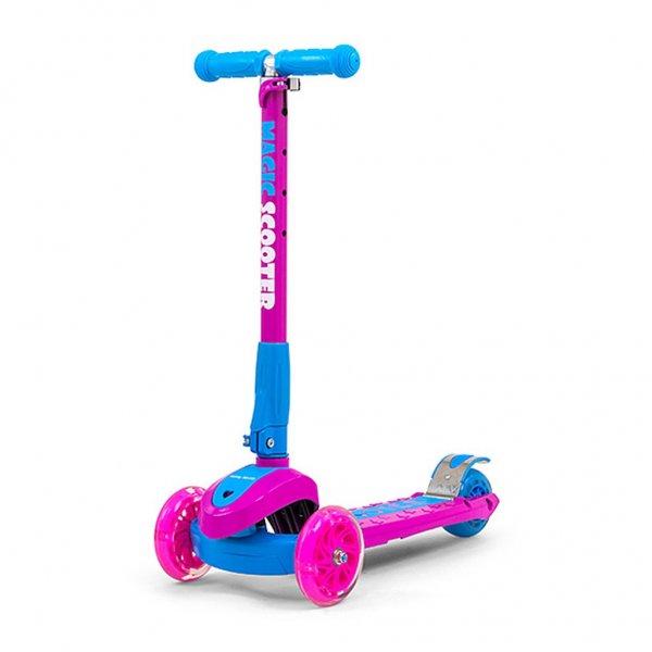 Milly Mally Dětská koloběžka Milly Mally Magic Scooter pink-blue Růžová