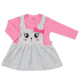 New Baby Kojenecké semiškové šatičky New Baby For Babies růžové