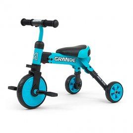 Milly Mally Dětská tříkolka 2v1 Milly Mally Grande blue