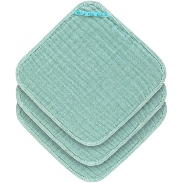 Lässig Muslin Washcloth Set 3 pcs Mint