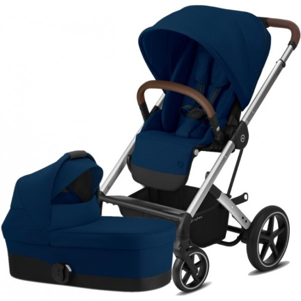 Cybex Balios S Lux Silver, Carry cot S 2020 Navy Blue