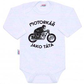 New Baby Body s potiskem New Baby Motorkář jako táta