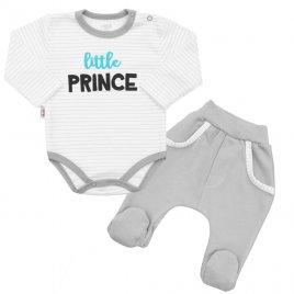 New Baby 2-dílná bavlněná souprava New Baby Little Prince