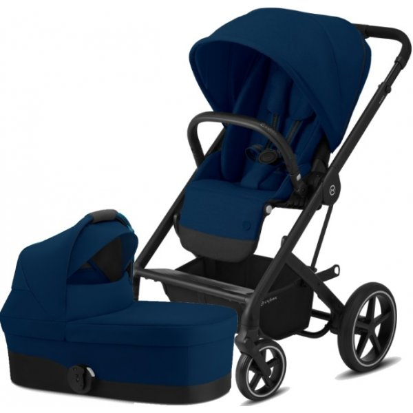 Cybex Balios S Lux BLACK, Carry Cot S 2020 Navy Blue