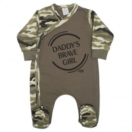 New Baby Kojenecký overal New Baby Army girl
