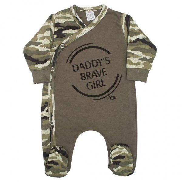 New Baby Kojenecký overal New Baby Army girl Zelená