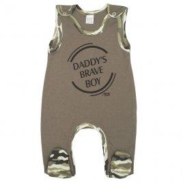 New Baby Kojenecké dupačky New Baby Army boy