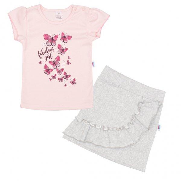 New Baby Kojenecké tričko se sukýnkou New Baby Butterflies Růžová