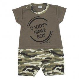 New Baby Kojenecký letní overal New Baby Army boy