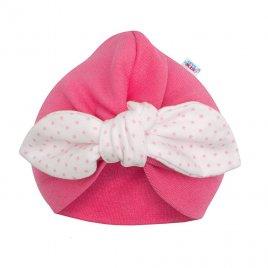 New Baby Dívčí čepička turban New Baby For Girls dots