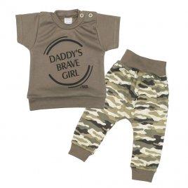New Baby 2-dílná kojenecká souprava New Baby Army girl