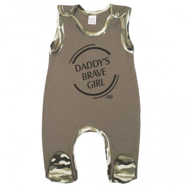 New Baby Kojenecké dupačky New Baby Army girl Zelená