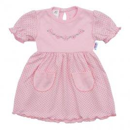 New Baby Kojenecké šatičky s krátkým rukávem New Baby Summer dress