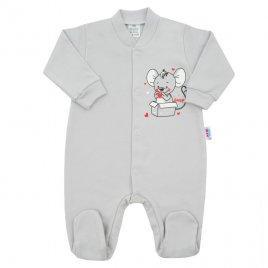 New Baby Kojenecký overal New Baby Mouse šedý