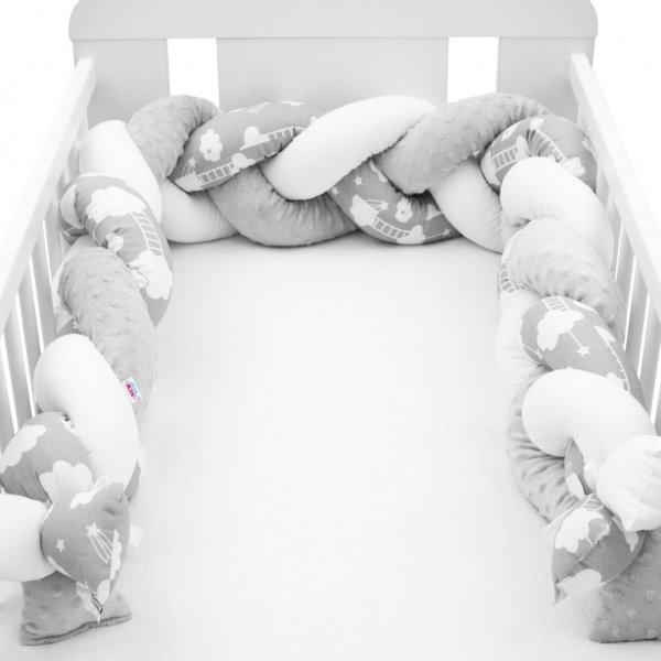 New Baby Ochranný mantinel do postýlky cop New Baby Minka a Mráček šedý Multicolor