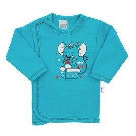 New Baby Kojenecká košilka New Baby Mouse tyrkysová