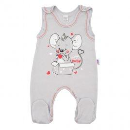 New Baby Kojenecké dupačky New Baby Mouse šedé