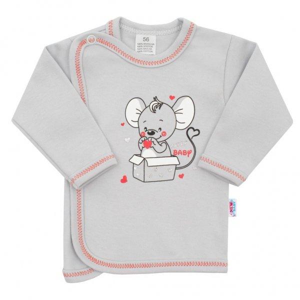 New Baby Kojenecká košilka New Baby Mouse šedá Šedá