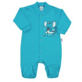 New Baby Kojenecký overal New Baby Mouse tyrkysový