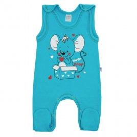 New Baby Kojenecké dupačky New Baby Mouse tyrkysové