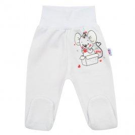 New Baby Kojenecké polodupačky New Baby Mouse bílé