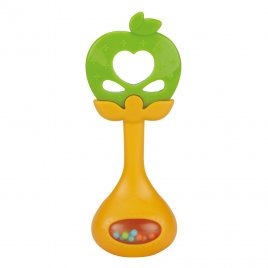 Bayo Silikonové kousátko s chrastítkem BAYO jablíčko
