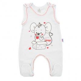 New Baby Kojenecké dupačky New Baby Mouse bílé