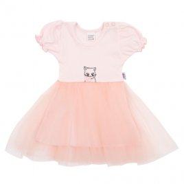 New Baby Kojenecké šatičky s tylovou sukýnkou New Baby Wonderful růžové