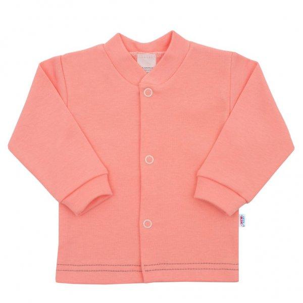 New Baby Kojenecký kabátek New Baby Mouse lososový Růžová