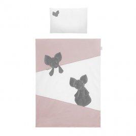 Belisima 2-dílné ložní povlečení Belisima Mouse 90/120 růžové