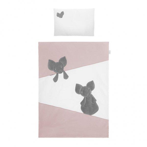 BELISIMA 2-dílné ložní povlečení Belisima Mouse 90/120 růžové Růžová