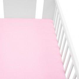 New Baby Jersey prostěradlo do postýlky New Baby 120x60 růžové