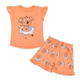New Baby Dětské letní pyžamko New Baby Dream lososové