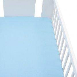 New Baby Jersey prostěradlo do postýlky New Baby 120x60 modré