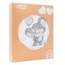 New Baby 14-dílná luxusní kojenecká souprava New Baby Little Mouse v EKO krabičce
