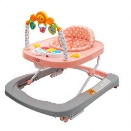 New Baby Dětské chodítko se silikonovými kolečky New Baby Forest Kingdom Pink