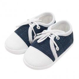 New Baby Kojenecké capáčky tenisky New Baby jeans modré 0-3 m