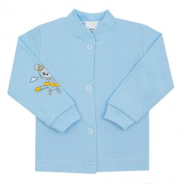 New Baby Kojenecký kabátek New Baby Teddy pilot modrý