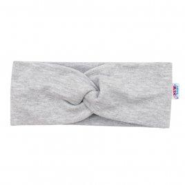 New Baby Kojenecká čelenka New Baby Style šedá 40,5 cm