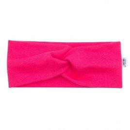 New Baby Kojenecká čelenka New Baby Style tmavě růžová 40,5 cm