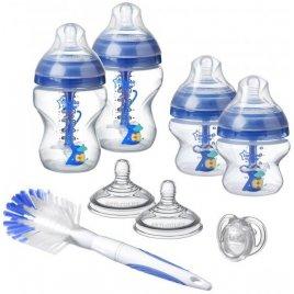 Tommee Tippee Sada kojeneckých lahviček C2N ANTI-COLIC s kartáčem