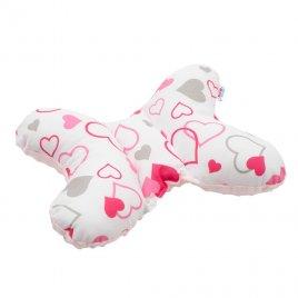 New Baby Stabilizační polštářek New Baby růžová srdíčka