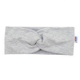 New Baby Kojenecká čelenka New Baby Style šedá 37 cm